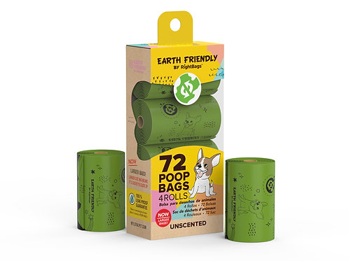 Earth Friendly 72 Unscented Poop Bags
