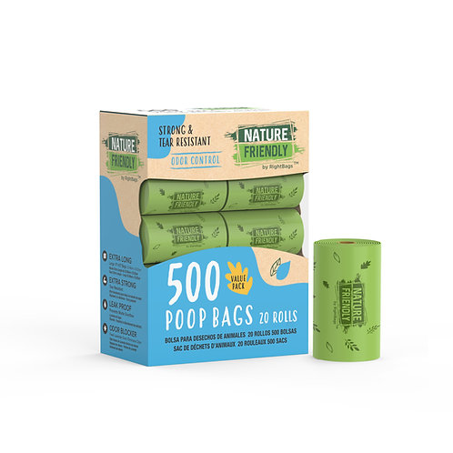 Nature Friendly 500 Scented Poop Bags