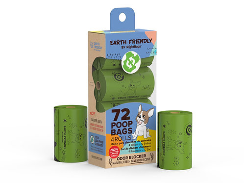 Earth Friendly 72 Scented Poop Bags
