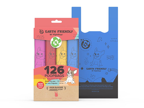 Earth Friendly 126 Scented Poop Bags W/Handle