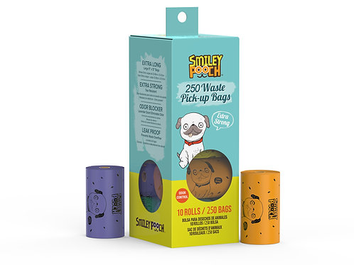 Smiley Pooch 250 Waste Pick-UP Bags