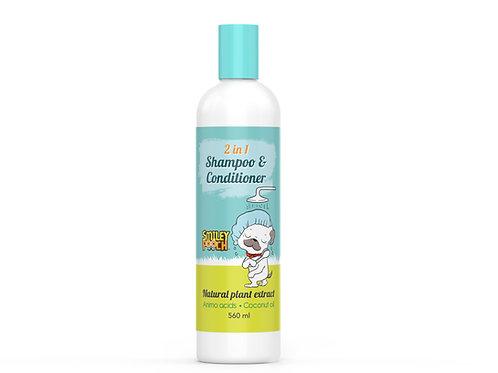 Smiley Pooch 2 in 1 Shampoo & Conditioner 560ML