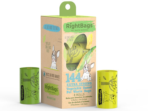 RightBags 144 Vegetable Based Pet Waste Bags