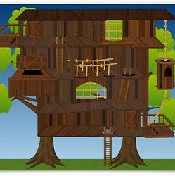 Giant Treehouse Scene by A Playful Mind