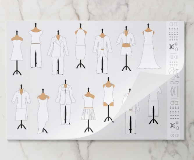 Notepad style for party take-aways or designers on the go