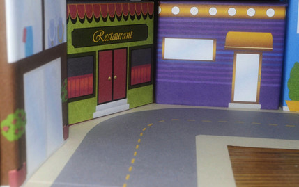 Real photo of Build-A-Town set in use