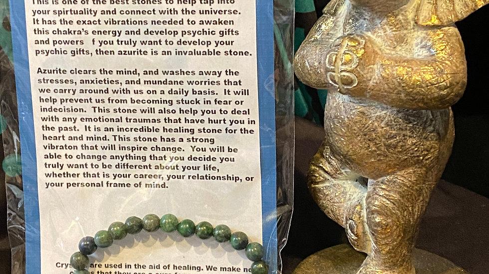 Azurite Mens bracelet