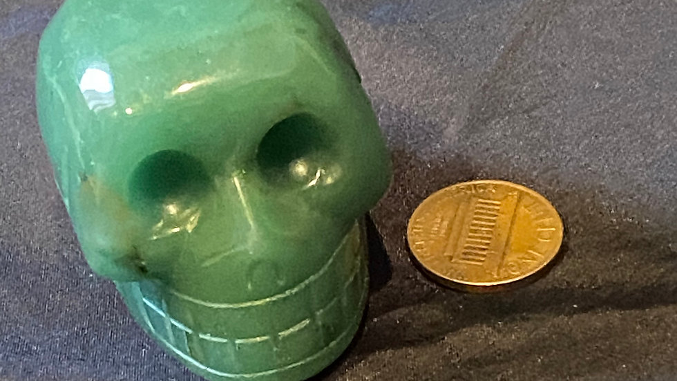 Green Aventurine Skull