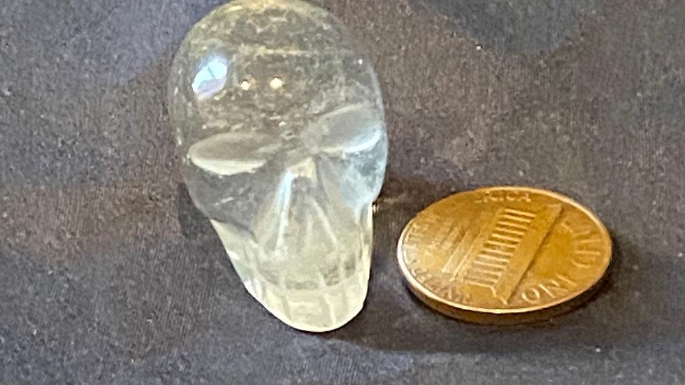 Mini Clear Quartz Skull