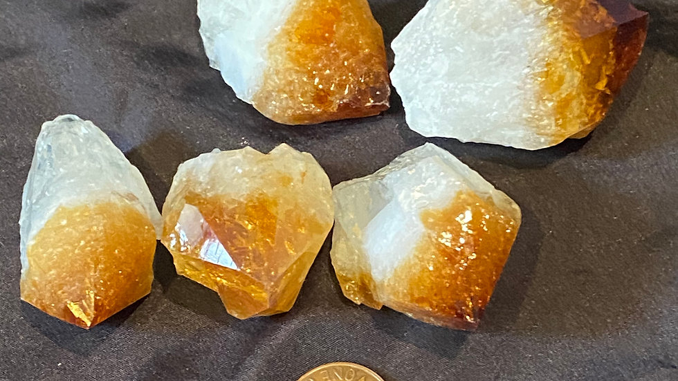 Raw Citrine Points Large
