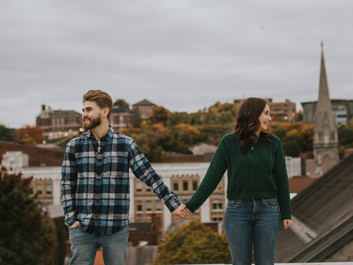 Rooftop Couples Session at The Takk House in Downtown Troy, NY