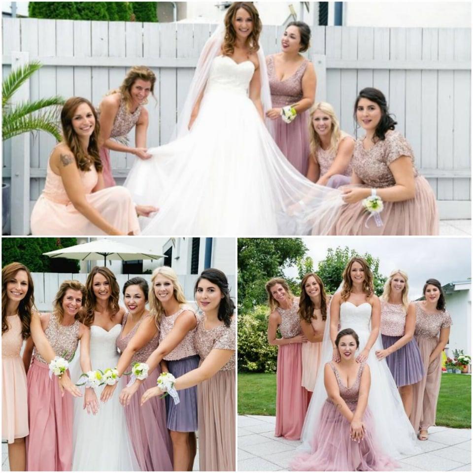Braut Natascha & ihre Brautjungfern