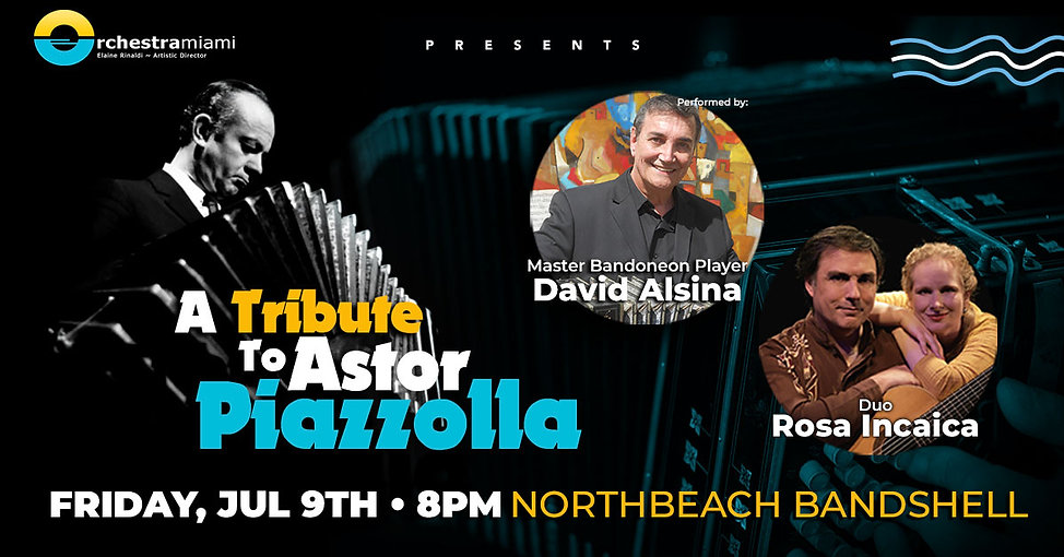 A Tribute to Astor Piazzolla image with David Alsina and Duo Rosa Incaica