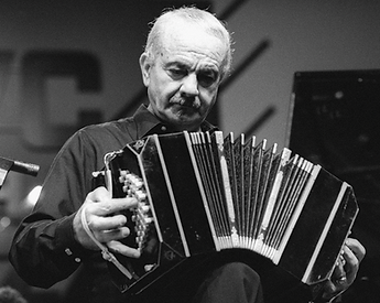 Astor Piazzolla playing the Bandoneon