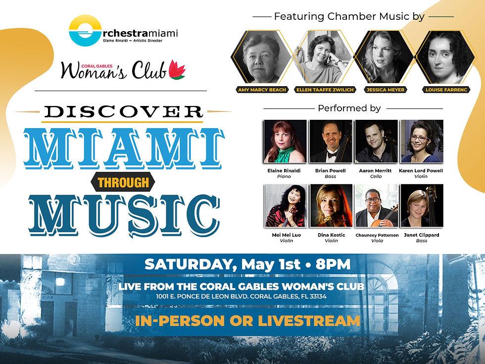 Discover Miami Through Music flyer
