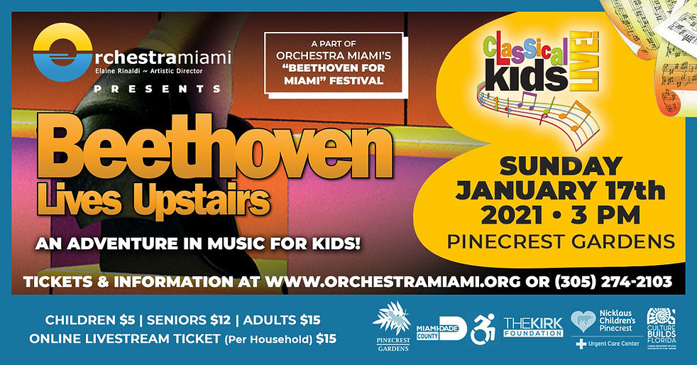 Orchestra Miami presents Beethoven Lives Upstairs