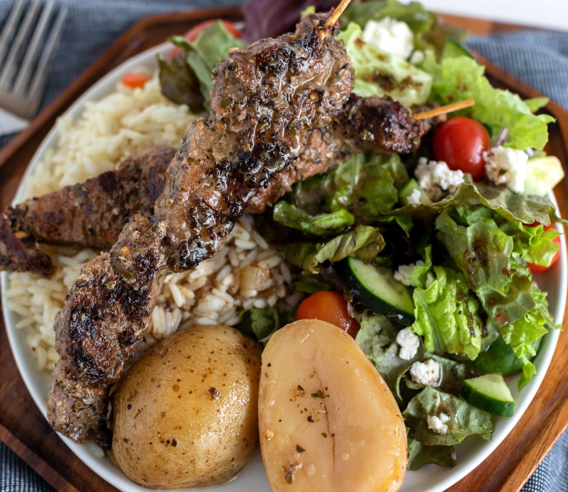 Pork Kabob Dinner