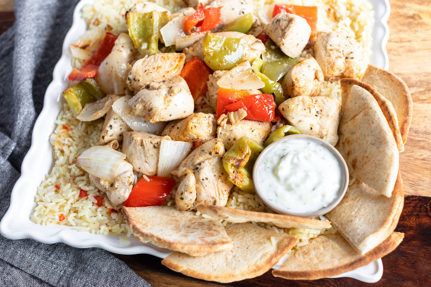 Chicken Souvlaki Family Meal