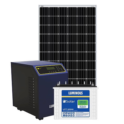 Luminous 2 kw off grid solar system for big homes, Shops, offices