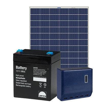 Loom 10 watt solar home lighting system for villages
