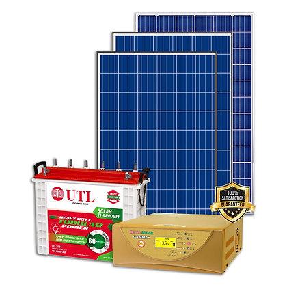 UTL 1kW Off Grid Solar System - 1kVAGamma+-1N, 335W Poly- 3N, UST156 BATTERY-1N