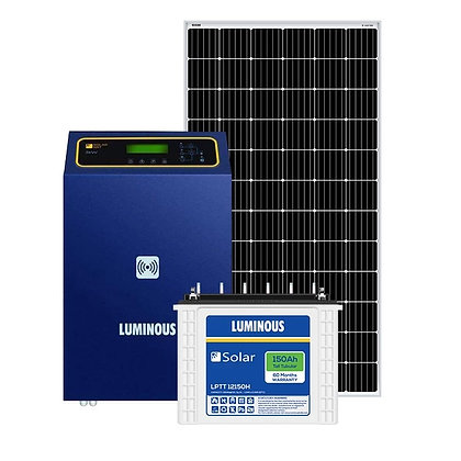 Luminous 3 kw off grid solar system for big homes, Shops, offices