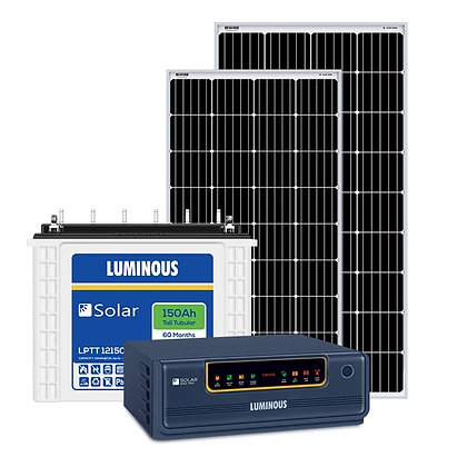 Luminous 1 kva off grid solar system for home with 4-5 hours backup