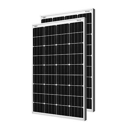 Loom solar panel 125 watt - 12 volt mono crystalline (pack of 2)
