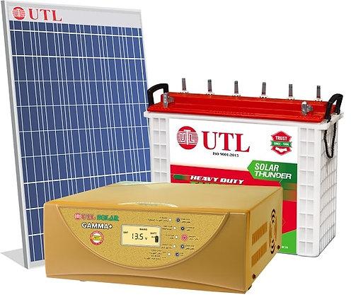 UTL 1kVA Off Grid Solar System - 1kVAGamma+-1N, 335W Poly- 1N, UST156 BATTERY-1N