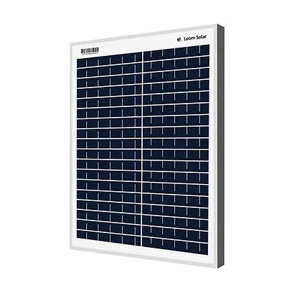 Loom solar panel 20 watt - 12 volt for small battery charging
