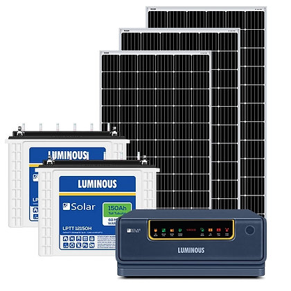 Luminous 1 kw off grid solar system for homes, with 8-10 Hours Backup