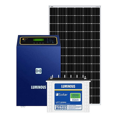 Luminous 5 kw off grid solar system for big homes, offices and commercial shops