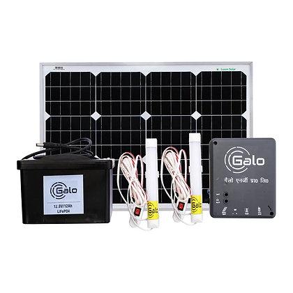 Loom Solar 50 watt off grid solar system for mobile charging, lighting for villa