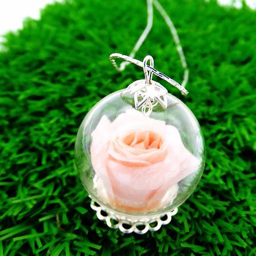 「愛。保鮮」迷你玫瑰項鏈 (糖果色系)