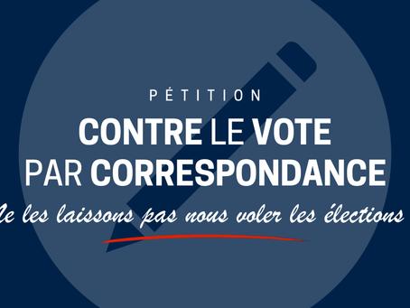 Pétition : contre le rétablissement du vote par correspondance !