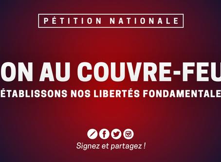 Signez la pétition nationale contre le couvre-feu !