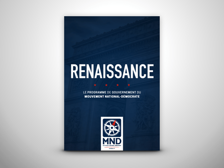 Découvrez Renaissance, le programme du Mouvement National-Démocrate