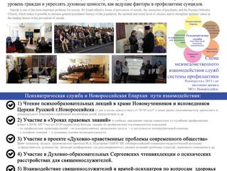 Опыт межведомственного взаимодействия психиатрической службы и Русской Православной Церкви в профила