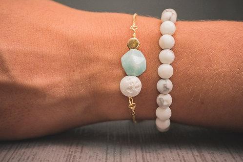 Amazonite Crystal Aromatherapy Bracelet (GOLD FILLED)