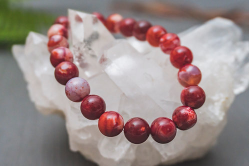 Red Fire Agate Bracelet