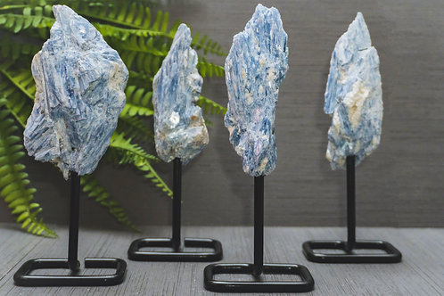 Blue Kyanite on Stand