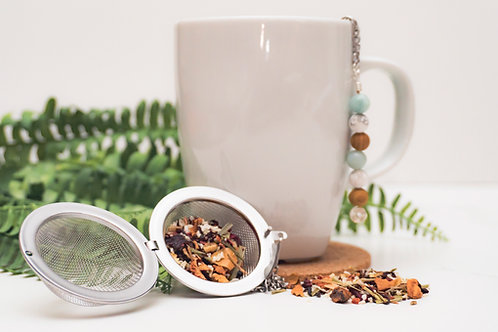 Tea Infuser Ball with Crystal Detail
