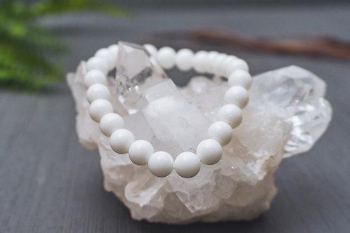 White Jade Stretch Bracelet