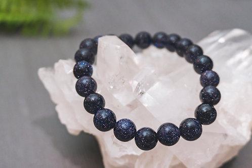 Blue Goldstone Bracelet (Round)