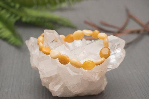 Honey Jade Stretch Bracelet