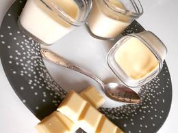 Crèmes desserts au chocolat blanc
