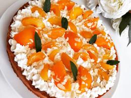 Tarte ensoleillée,Tarte pêche abricot