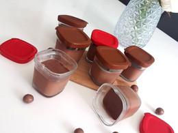 Crème dessert au chocolat noir Nestlé et arôme amande amère