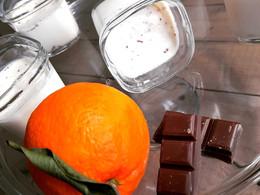 Yaourts stracciatella Orange/ chocolat caramel