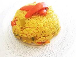 Riz au safran et petits légumes au cookeo
